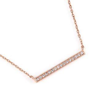 Swarovski Vi Rose Gold Bar Crystal Necklace